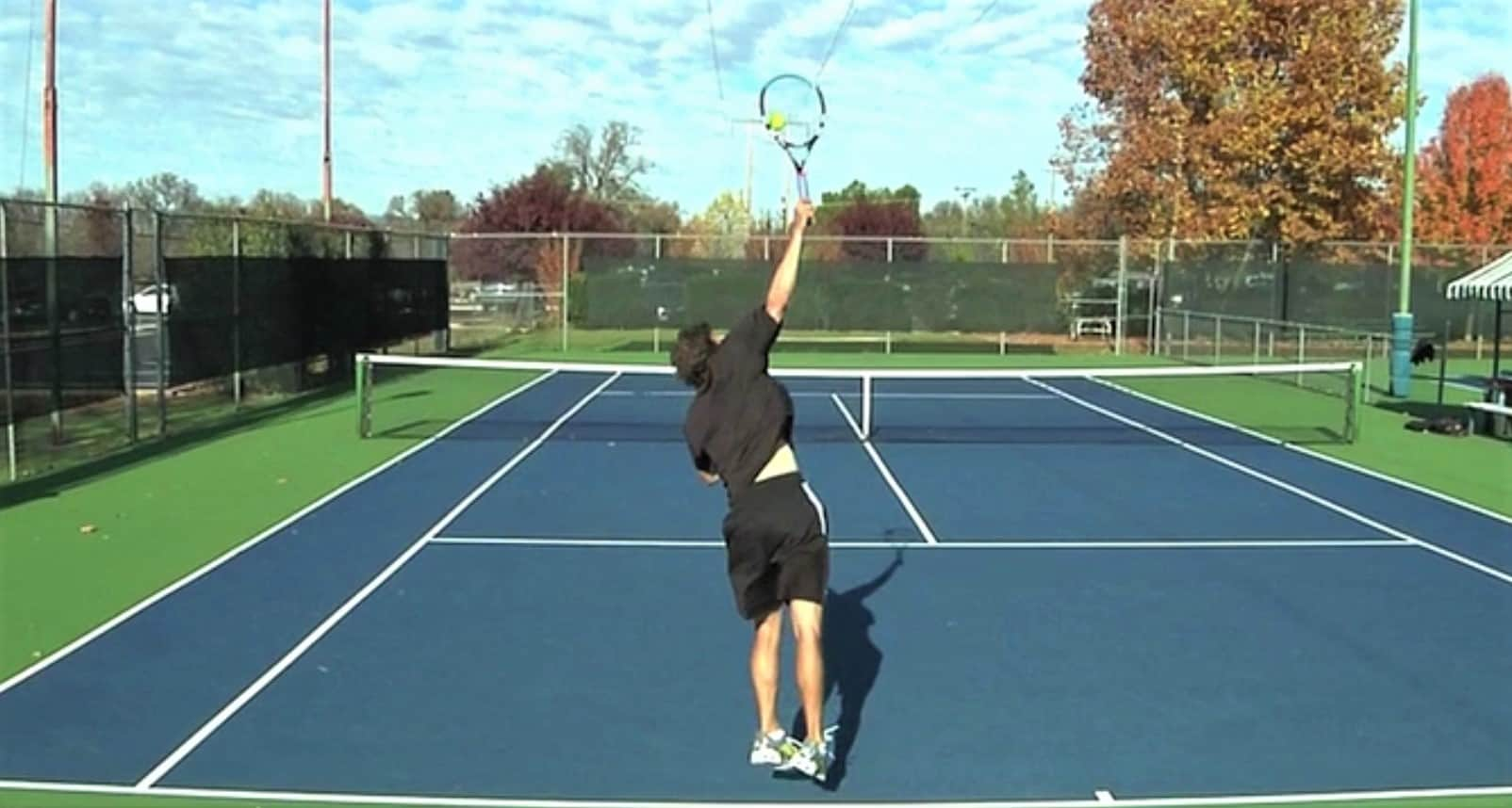 How to jump on your tennis serve
