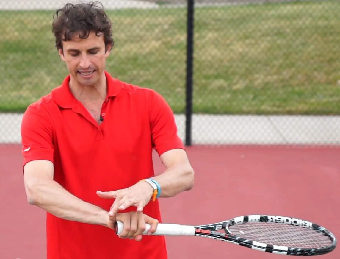 Tennis serve grip