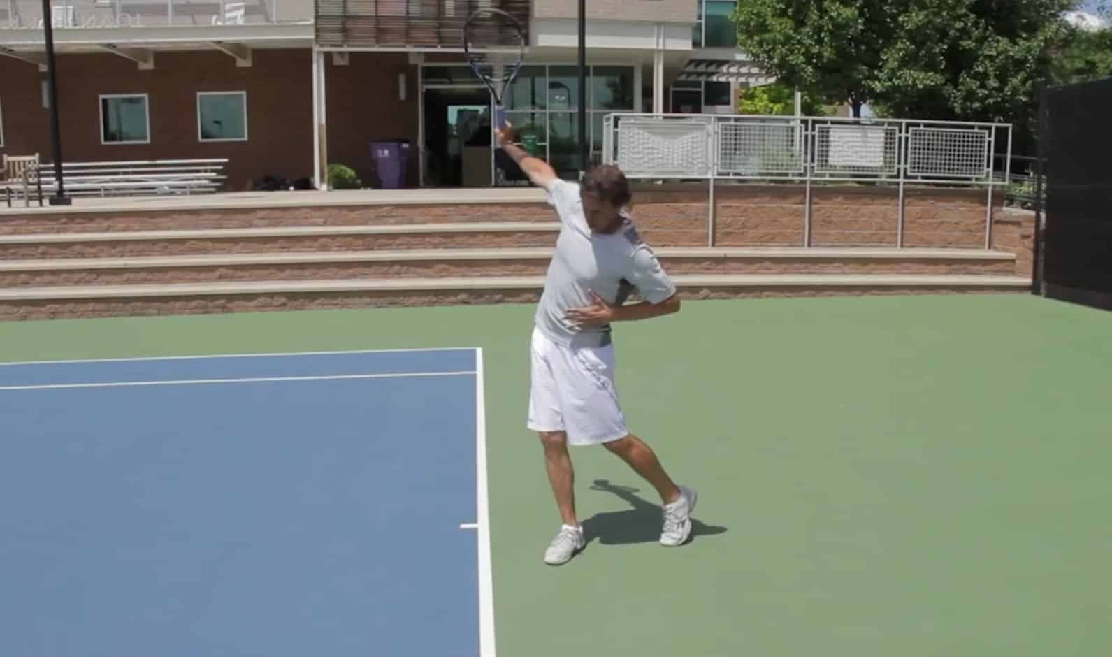 One Handed Backhand Stance