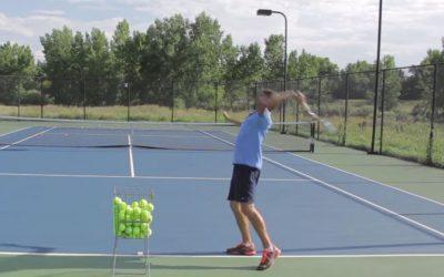 TENNIS SERVE | How To Hit A Kick Serve Easily