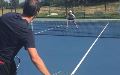 TENNIS VOLLEY | How To Hit Backhand Volley