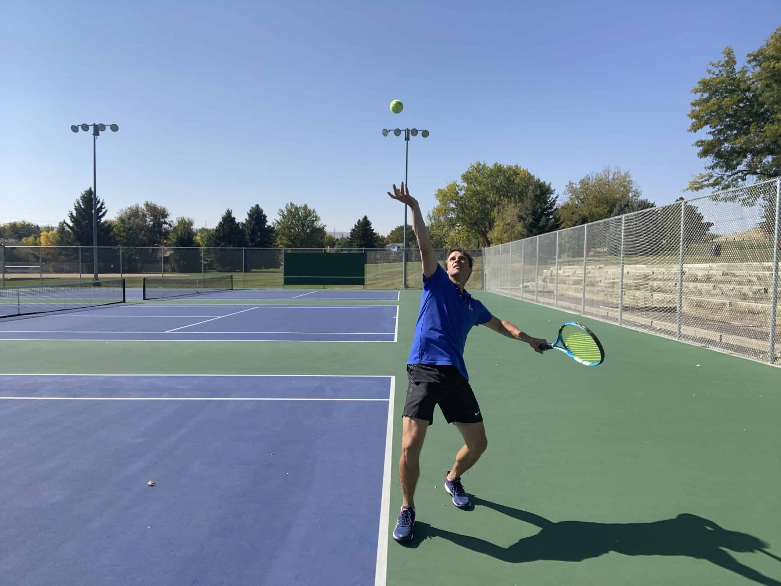 First move on your tennis serve