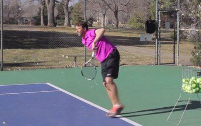 TENNIS SERVE | How To Finish On The Kick Serve