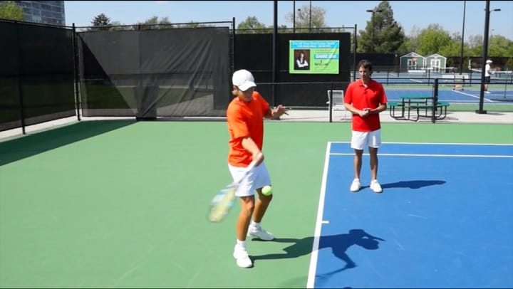 Contact Point On The Flat Forehand
