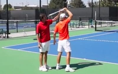 1 Drill For More Forehand Topspin (Do This!) | TENNIS FOREHAND