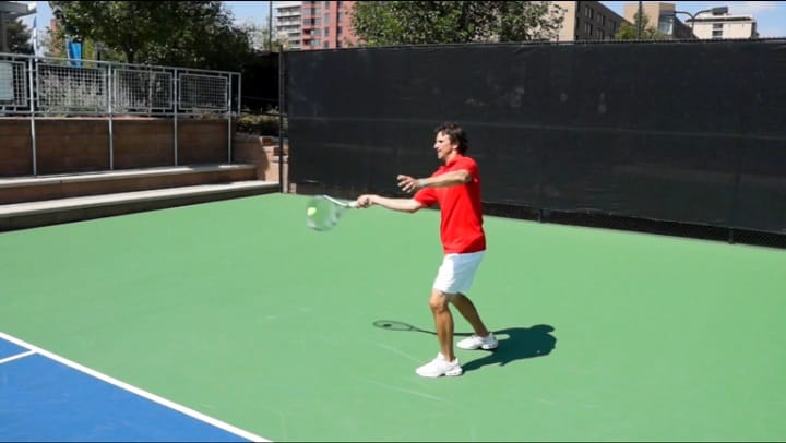 Forehand Contact Point