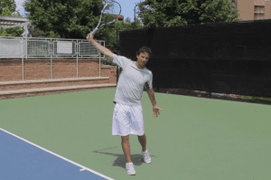 One handed backhand technique