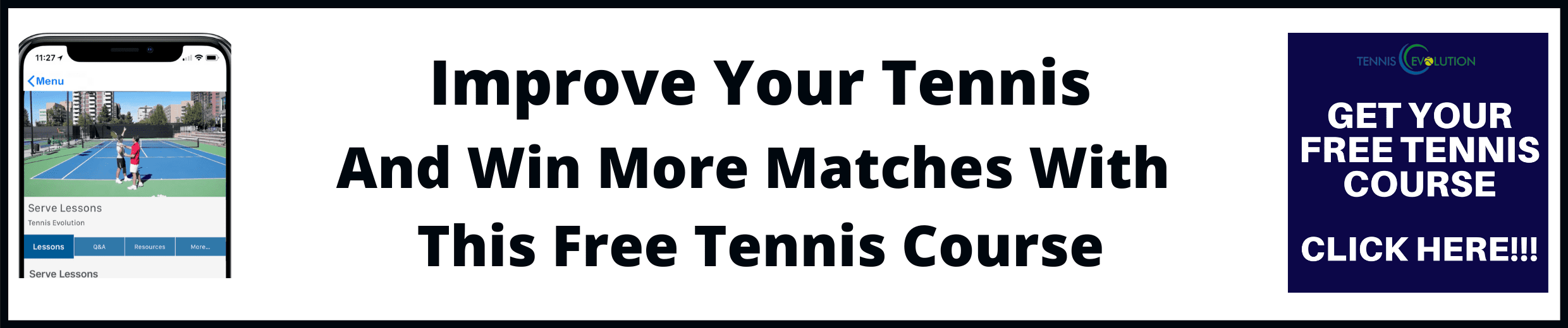 Free Tennis Course