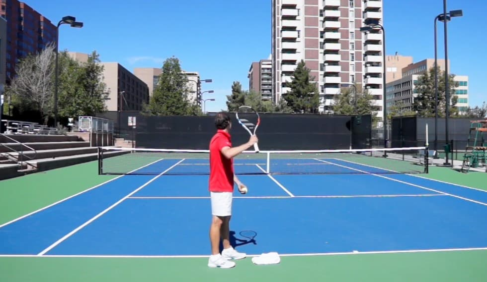 Topspin Serve Drill