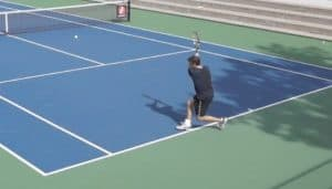 Two Handed Backhand Footwork