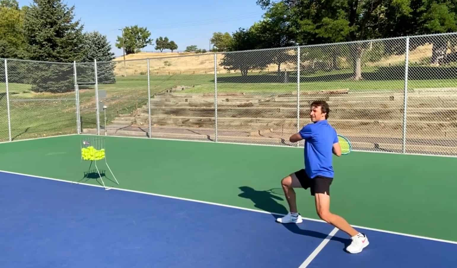 Wide and Low Tennis Forehand Tip