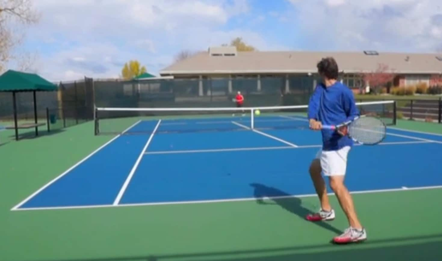 One handed backhand topspin