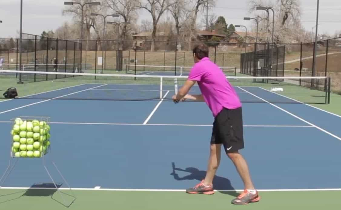 Tennis Serve Platform Stance
