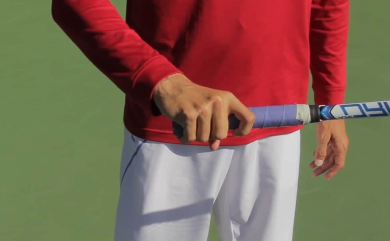 Tennis forehand grip