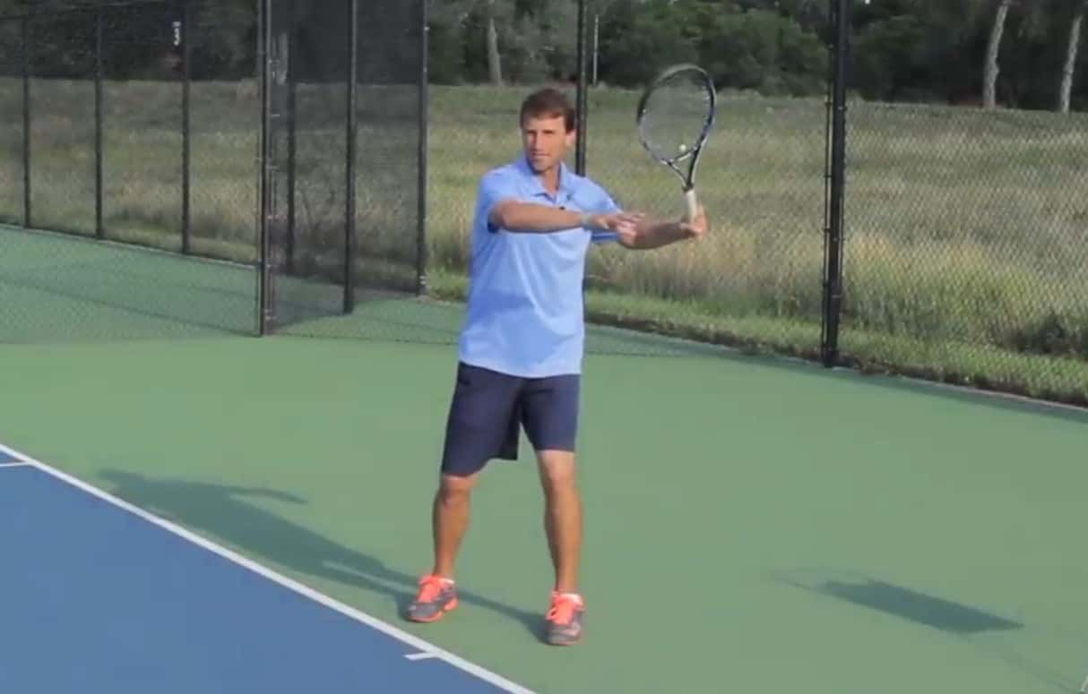 First move on the tennis forehand