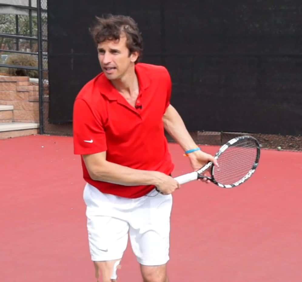Tennis serve finish technique